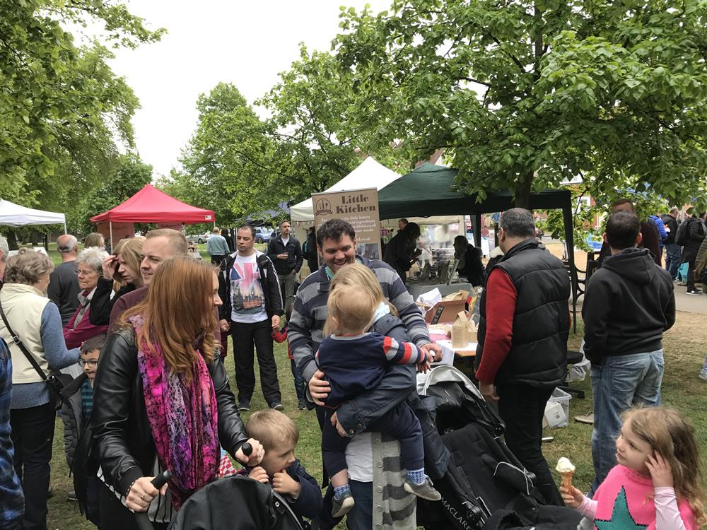 Food & Craft Stalls on Monument Green Weybridge Elmbridge - Community Family Event For All - Children and Adults at Weybridge Cake Bake Off